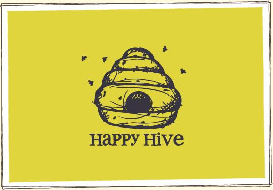 Finished Happy Hive Logo